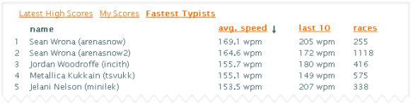 Increase your typing speed while racing Sean Wrona | The