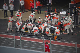 Racing Pit Stop Photo