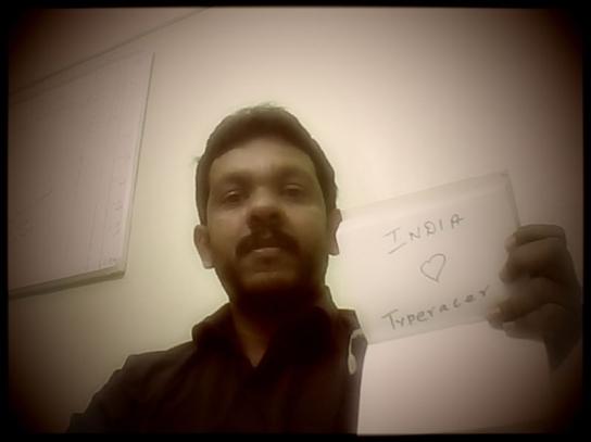 Typeracer Prasen from India loves Typeracer!