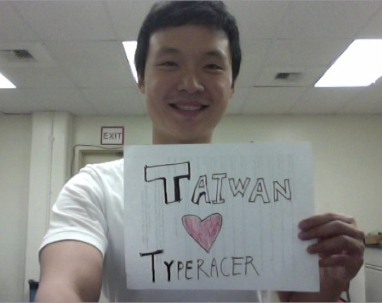 Racer Vic loves Typeracer from Taiwan