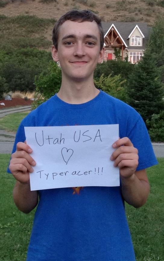 Benjamin Hale (Bunjeyman) loves Typeracer from Mapleton, Utah, USA!