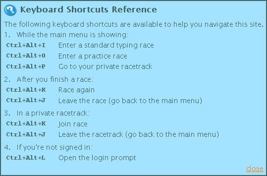 Here is a list of the new keyboard shortcuts.