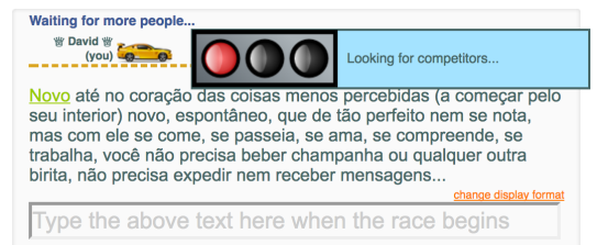 Portuguese TypeRacer